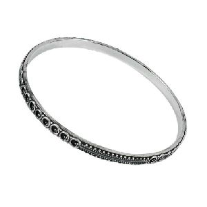 925 Silver Jewellery Ethnic Oxidised Silver Bangle