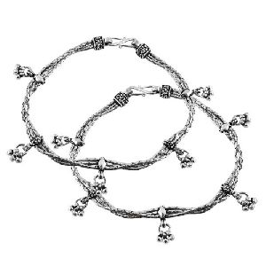 Ethnic Beauty 925 Sterling Silver Anklets