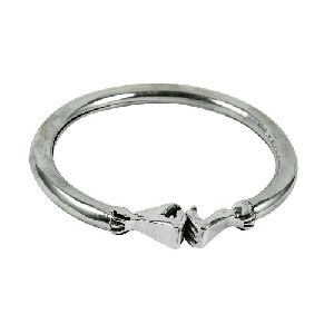 Handmade Sterling Silver Jewellery Beautiful 925 Silver Hollow Hand Bangle
