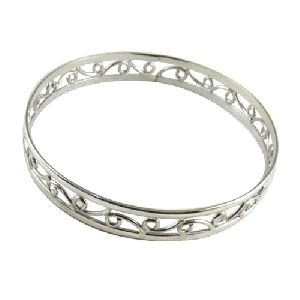 Large Stunning!! Handmade 925 Sterling Silver Bangle