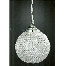SILVER CRYSTAL HANGING CHANDELIER