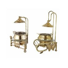 Brass Lotus shape and Butterfly Chafing Dish
