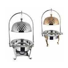 Brass Steel Chafing Dish with Lid Holder