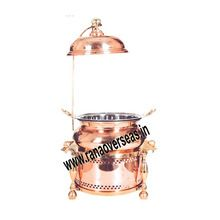 Copper Chafing Dish With Lid Holder.