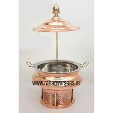 Copper Chafing Dish with Lid Stand