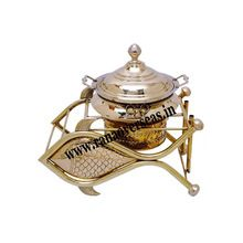 Dolphin Fish Shape Brass Metal Chafing Dish
