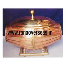 Drum Look Brass Chafing Dish