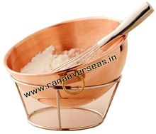 Pure Copper Mixing Bowls with Stand.