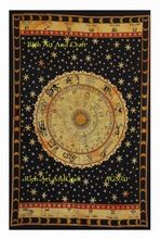Astrology Indian Horoscope Zodiac Tapestry Wall Hanging