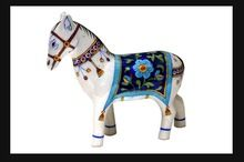 Home Decor Art Gallery Horse Blue Pottery