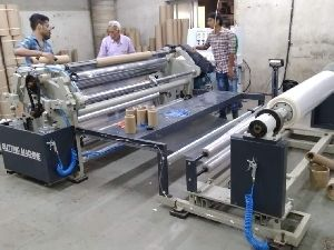 High speed 3 drive slitting rewinding machine