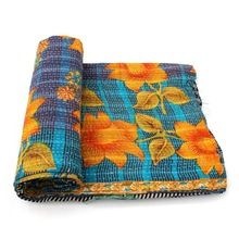 Cotton Saree Bedspread Couch Cover