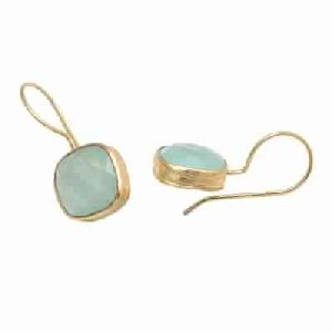 Aqua Chalcedony new Fashion Stud Earring