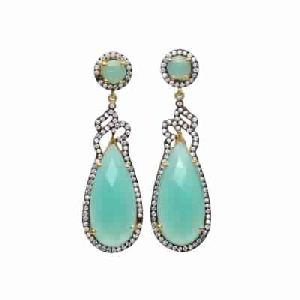 Aqua Chalcedony new Fashion zircon Earring