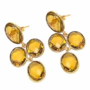 Beer Quartz Earring