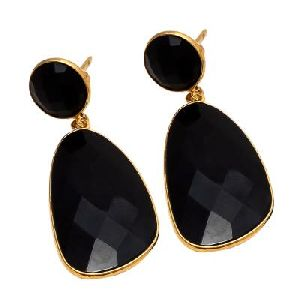 Black Onyx Fancy Shape Earring