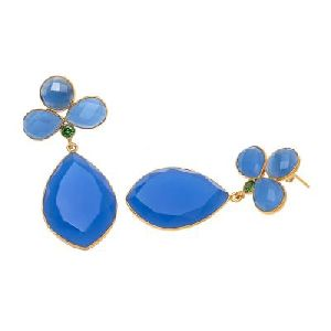 Blue Chalcedony New Fashion Earring