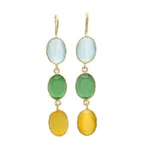 Dangling Multi-stone Earrings