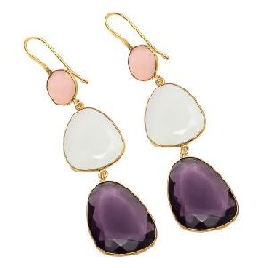 Fancy Shape Gemstone Earring