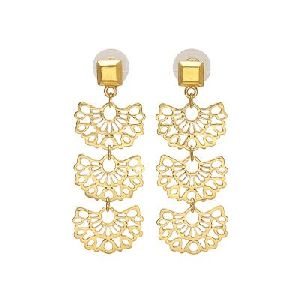 Gold Filigree Earrings, Dainty Gold Earrings