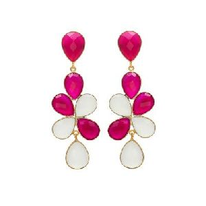 Multi Stone Earring Gemstone Earring
