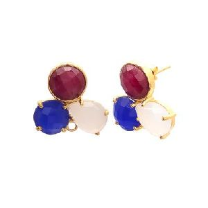 Multi Stone Gemstone Earring