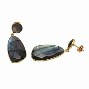 Labradorite Fancy Cut Gemstone Earring