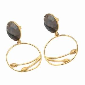 Labradorite Oval Shape Earring