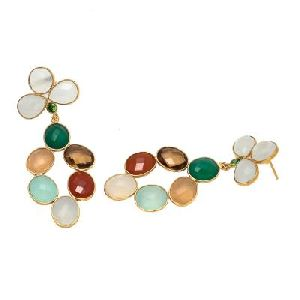 Multi Color Gemstones Earring