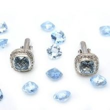 Natural Blue Topaz and zircon Gemstone