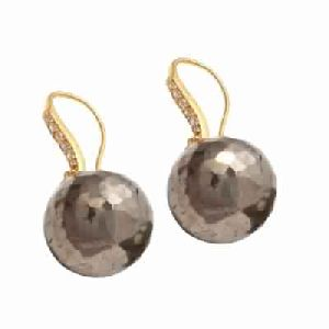 new Fashion Pyrite Gemstone Earring