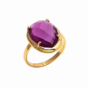 Pink Tourmaline Hydro Prong Set Gemstone Ring