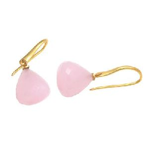 Rose chalcedony gemstone Earring