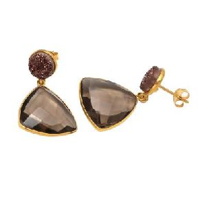 Smoky Quartz Earring