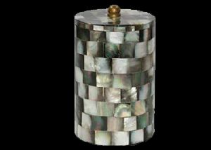 Black Mother of Pearl Cotton Jar