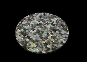 Black Mother of Pearl Table Mat