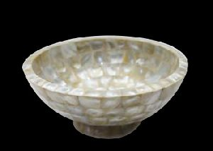 White Mother of Pearl Bowl