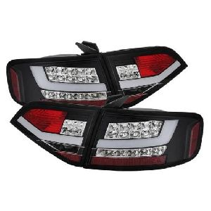 Audi A4 4D 08-12 LED TAIL LAMP EURO TYPE, LED INDICATOR (CHROME LENS) FOR OE LED TYPE (Premium Car Accessories) DealKarDe