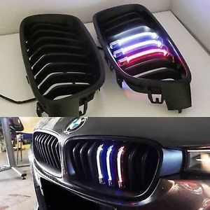 BMW F30 GRILLE OE TYPE W3 COLOR LIGHT SHINY BLACK (Premium Car Accessories) DealKarDe
