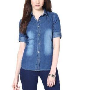 cd40af9373 Wholesale Ladies Denim Shirt