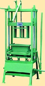 Hand Operated Single Concrete Block Making Machine