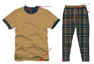 Mens T-Shirt and Pyjama Set