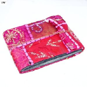 Red colour patchwork designs recycle paper 6X4 Inches handmade paper photo album
