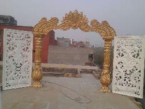 Peacock Style Wedding Entrance Decoration Gate