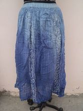 dyed pattern popular long skirts for girls
