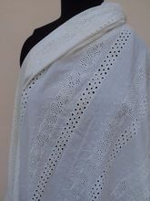indian embroidered eyelet cotton fabrics