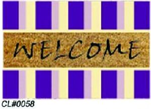 PVC Backed Welcome Coir Mat 01