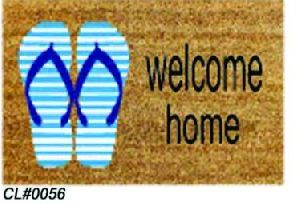 PVC Backed Welcome Coir Mat 04