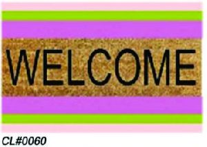 PVC Backed Welcome Coir Mat 05