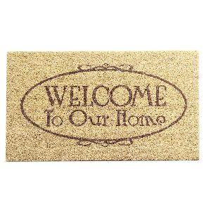 PVC Backed Welcome Coir Mat 09
